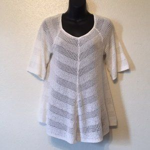 New Directions Sweater Crochet Tunic Top